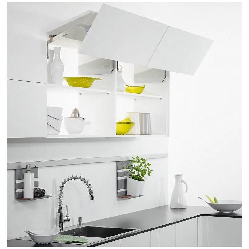 Ferrure de porte double relevante freefold Boitier relevant pour double porte de meuble cuisine