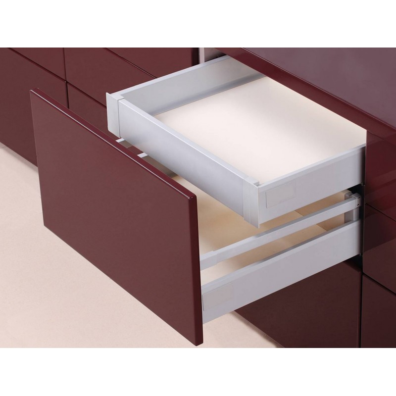 Kit tiroir coulissant l 39 anglaise emuca accessoires de for Eclairage tiroir cuisine