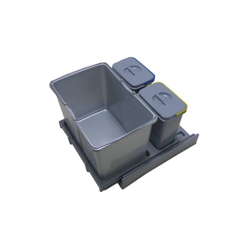 poubelle tri slectif 3 bacs de capacit 48 litres - Poubelle Tri Selectif 3 Bacs