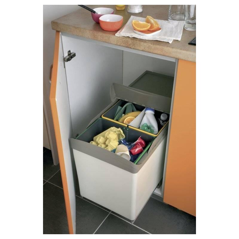 poubelle tri selectif ouverture automatique accessoires de cuisines. Black Bedroom Furniture Sets. Home Design Ideas