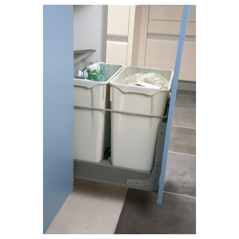 Kit de fixation sur porte pour poubelles tiroir for Poubelle tiroir cuisine