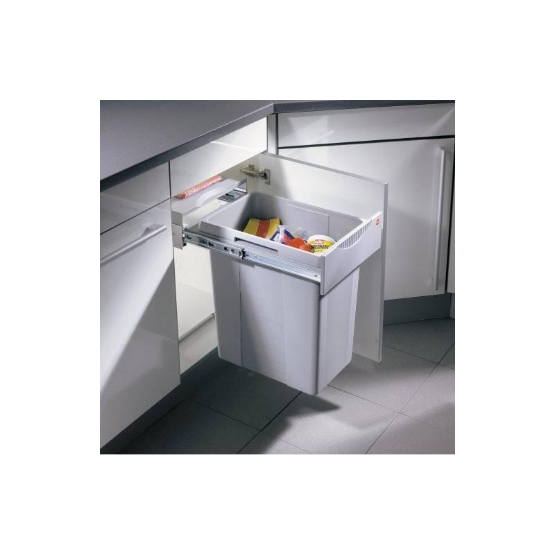 Poubelle coulissante robuste 1 bac 40 litres accessoires de cuisines - Poubelle de cuisine coulissante ...