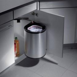 Poubelle ronde de capacité 20 litres avec système d'ouverture automatique