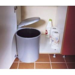 Poubelle ronde de capacité 13 litres avec système d'ouverture automatique