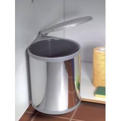 Poubelle Acier 1 bac de capacité 13 litres avec système d'ouverture automatique