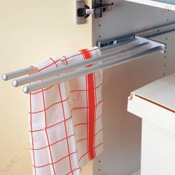 Porte-serviettes 3 bras coulissant