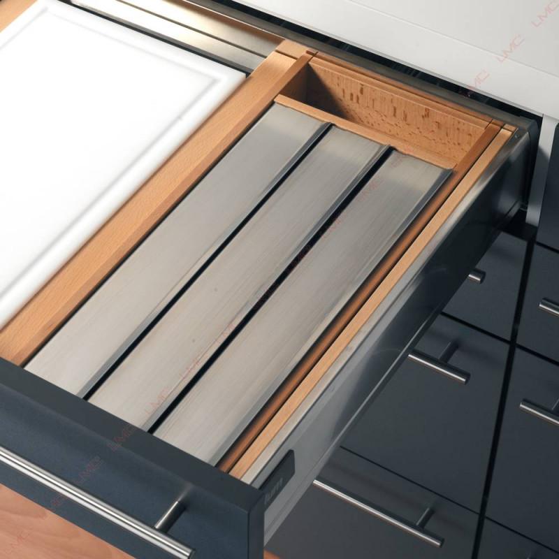 Rangement tiroir 3 rouleaux alimentaires accessoires de for Organiseur de tiroir cuisine