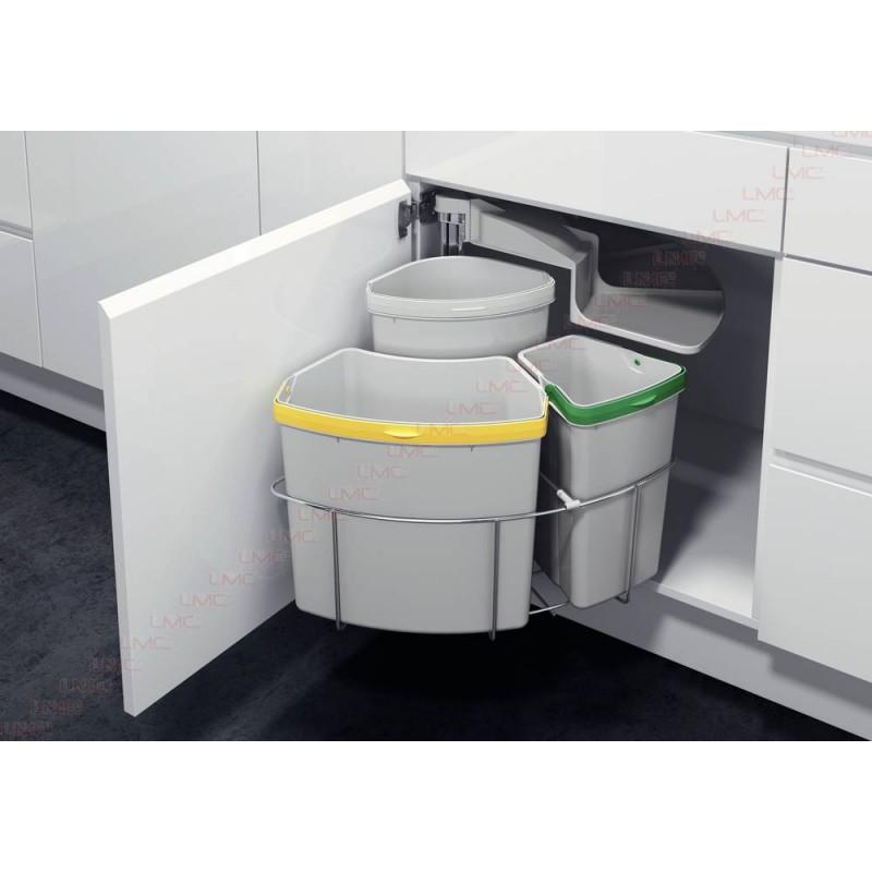 poubelle tri slectif rotative 3 bacs de capacit 39 litres - Poubelle Tri Selectif 3 Bacs