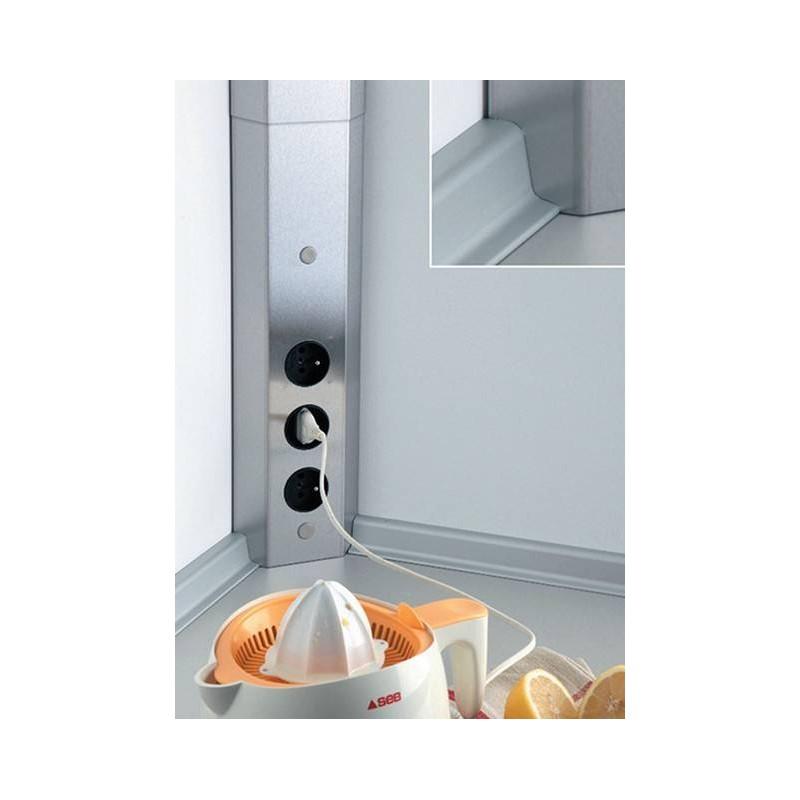Bloc 3 prises d 39 angle pour cr dence accessoires de cuisines for Prise dangle pour cuisine