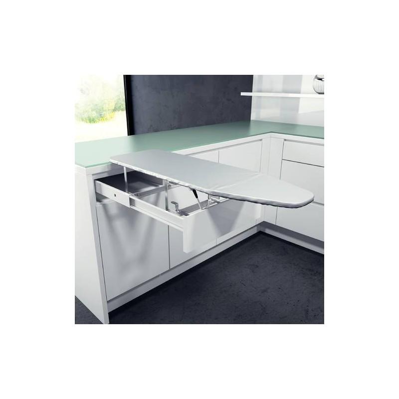 Table repasser tiroir escamotable accessoires de dressing - Meuble cuisine avec table escamotable ...