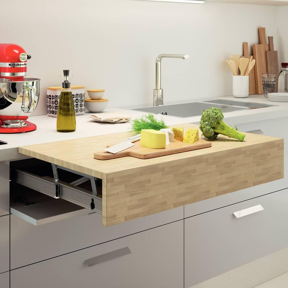 Cuisine Avec Plan De Travail Coulissant ferrure pour plan de travail escamotable accessoires de cuisines