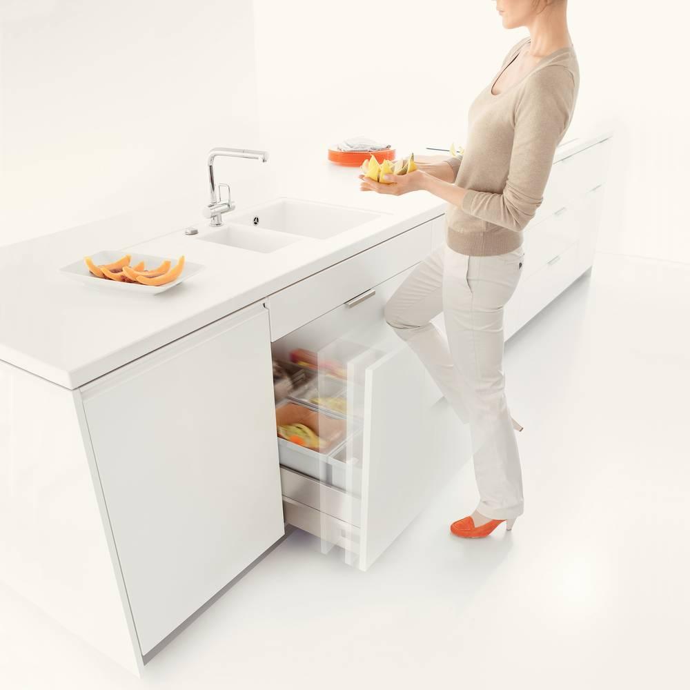 Ouverture électrique tiroir coulissant déchets Accessoires de cuisine