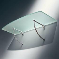 Console d'étagère pour tablette verre ou bois de 6 à 20 mm