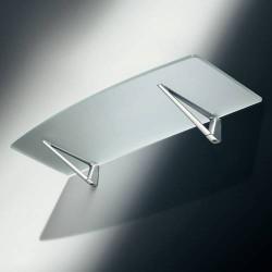 Console d'étagère pour tablette verre et bois