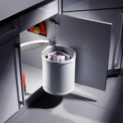 Poubelle ronde 1 bac de capacité 12 litres