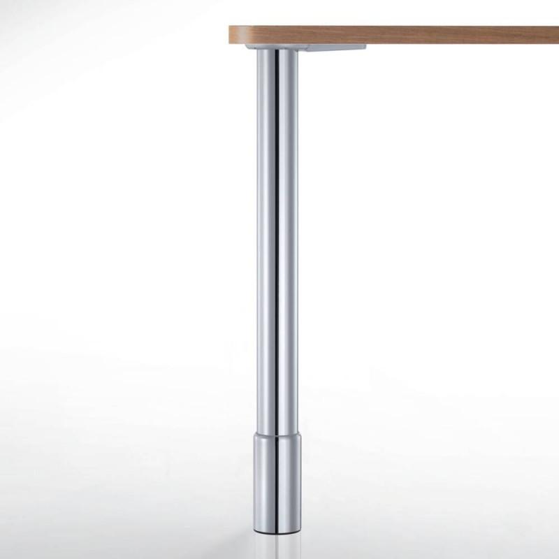 Pied de table réglable avec jupe de finition