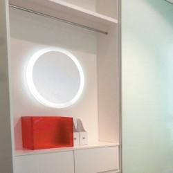 Miroir rond eclairant 55w accessoires de cuisines for Miroir rond eclairant