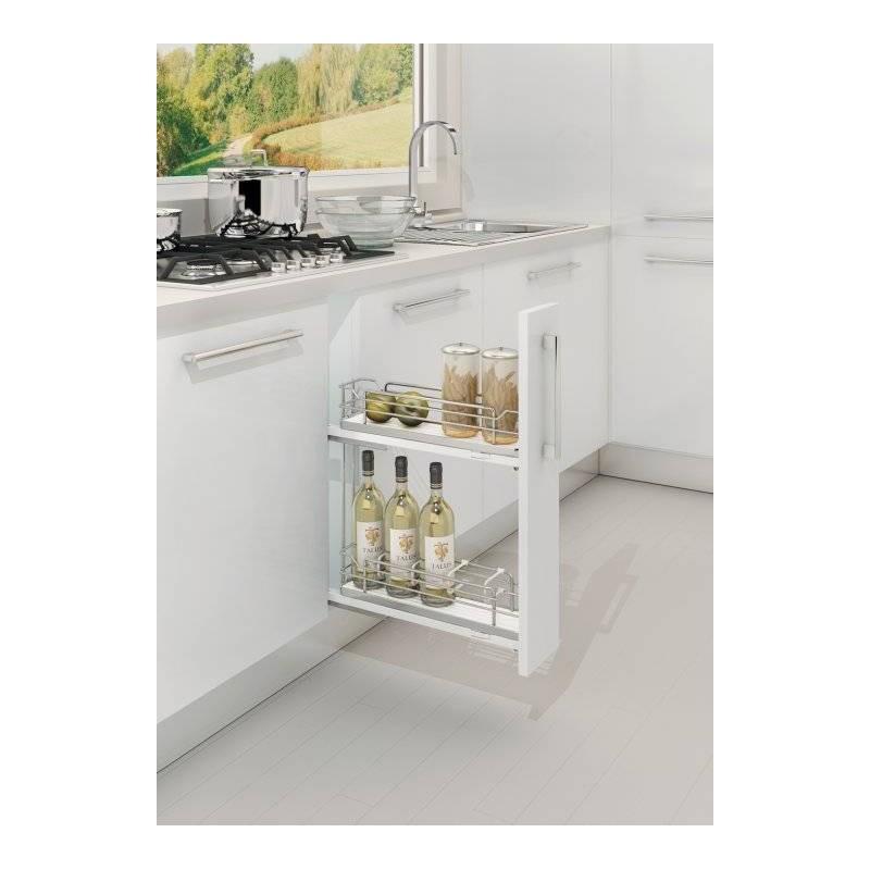 Tiroir coulissant am nagement meuble bas accessoires de for Amenagement tiroir cuisine