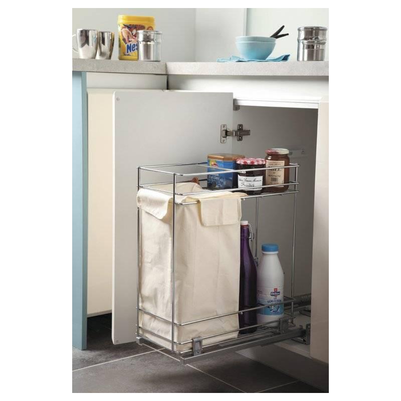 Rangement bouteilles coulissant meuble bas accessoires de for Rangement meuble cuisine accessoires