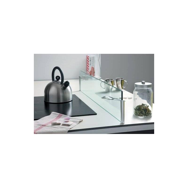 Supports pour s parateur ilot plan de travail accessoires de cuisines - Groom pour porte en verre ...