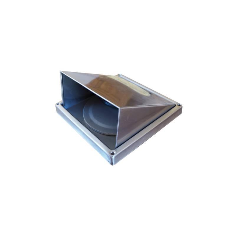 bouche d 39 evacuation d 39 air inox avec clapet pour exterieur accessoires de cuisines. Black Bedroom Furniture Sets. Home Design Ideas