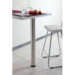 PIED DE TABLE ET SNACK ROND 60MM EN INOX AISI 304