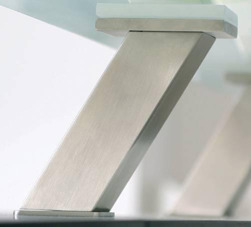 Support de snack incliné console bar bois verre Accessoires de cuisine