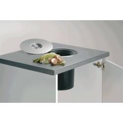 poubelle de plan de travail 11 litres accessoires de cuisines. Black Bedroom Furniture Sets. Home Design Ideas
