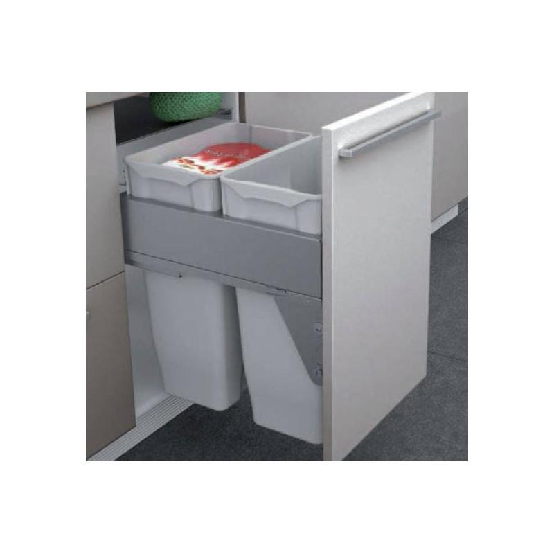 Poubelle grande contenance meuble sous vier accessoires - Poubelle tri selectif grande contenance ...