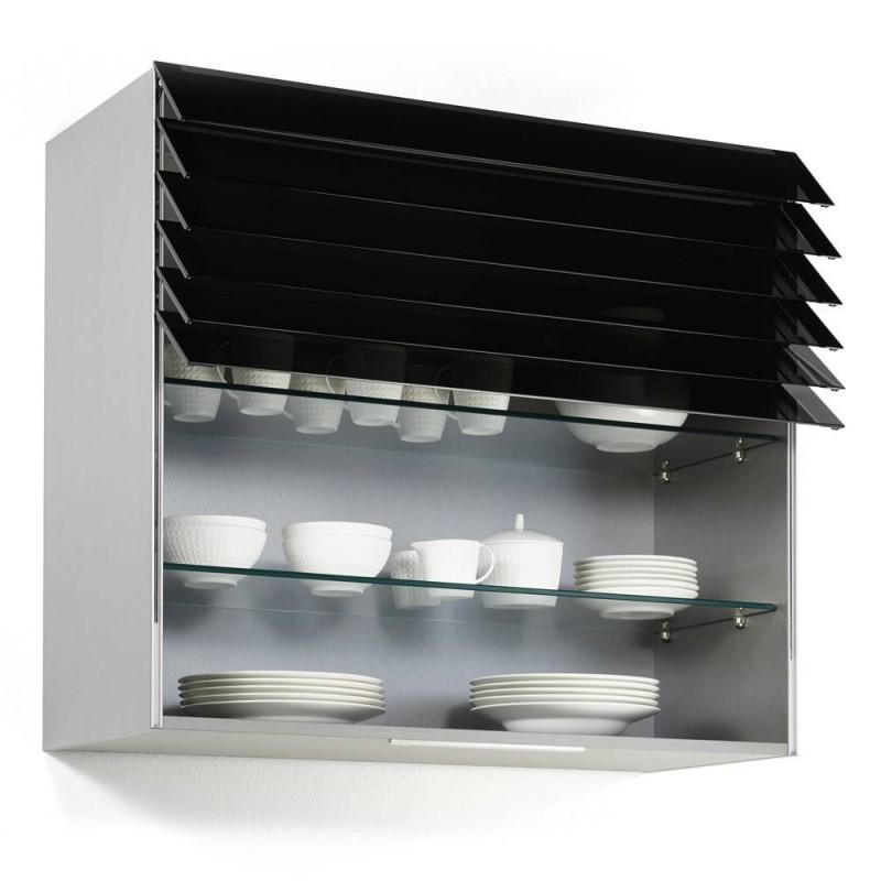 Meuble haut de cuisine avec rideau lamelles accessoires for Rideau interieur electrique