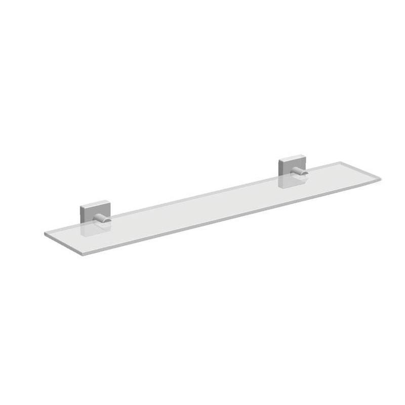 Tablette lavabo verre avec supports accessoires de salle de bains - Groom pour porte en verre ...