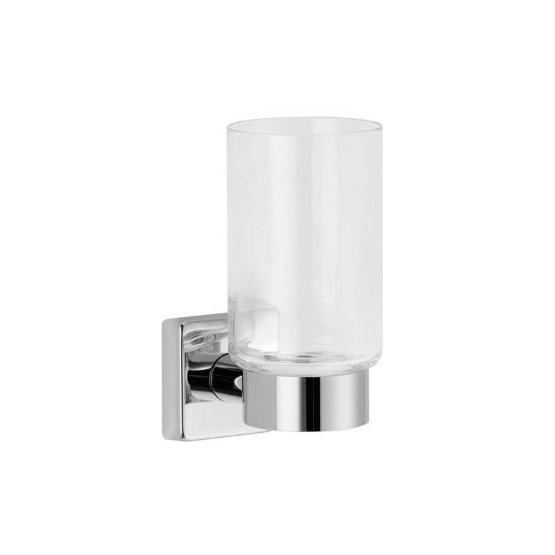 Support verre dents lavabo accessoires de salle de bains - Groom pour porte en verre ...