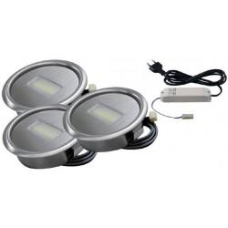 Kit De 3 Spots Led Encastrables Decor Inox Accessoires De Cuisine