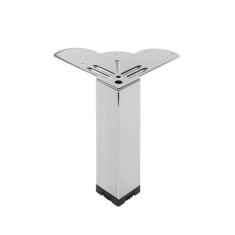 Pied carr en acier pour meuble bas - Pied pour meuble suspendu ...