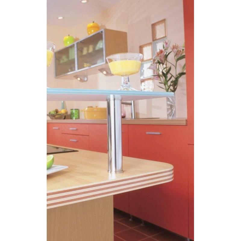 Platine de fixation pour support de snack rond accessoires de cuisine - Groom pour porte en verre ...