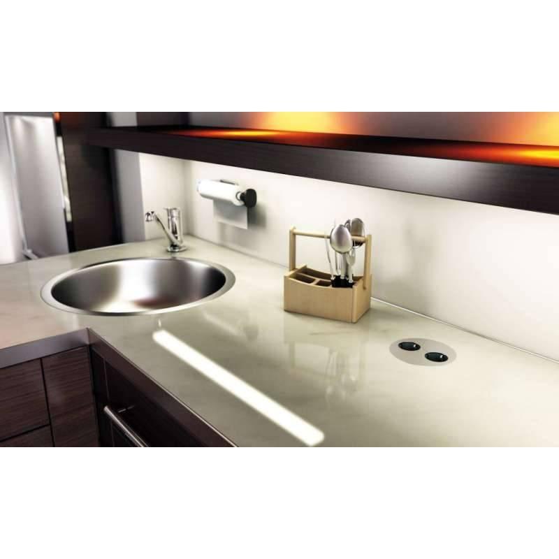 bloc 2 prises twist avec clapet accessoires de cuisine. Black Bedroom Furniture Sets. Home Design Ideas