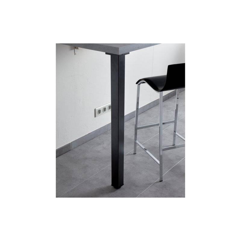 pied de table carr en acier 60mm accessoires de cuisine. Black Bedroom Furniture Sets. Home Design Ideas